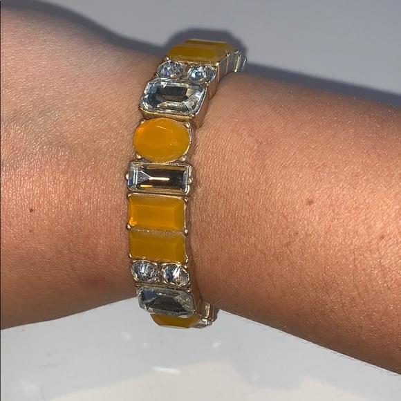 J. Crew Jewelry - J. Crew Stretchy Gem Bracelet in Mustard Yellow